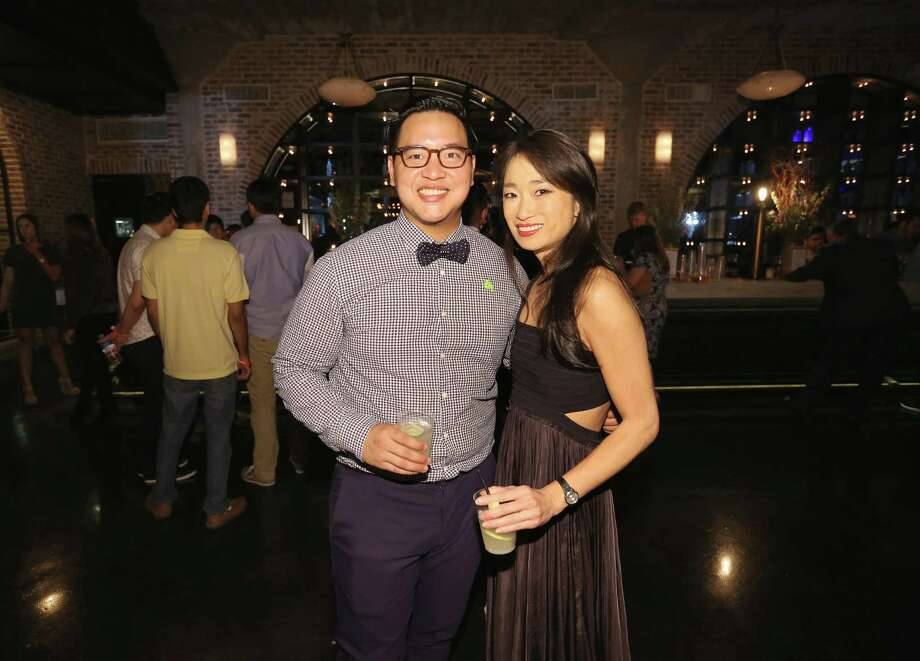 Oxheart chef Justin Yu and Luckyrice founder Danielle Chang. Yu hosted the first-ever Luckyrice Houston Feast event at the Astorian. Photo: Yi-Chin Lee, Houston Chronicle / © 2016  Houston Chronicle