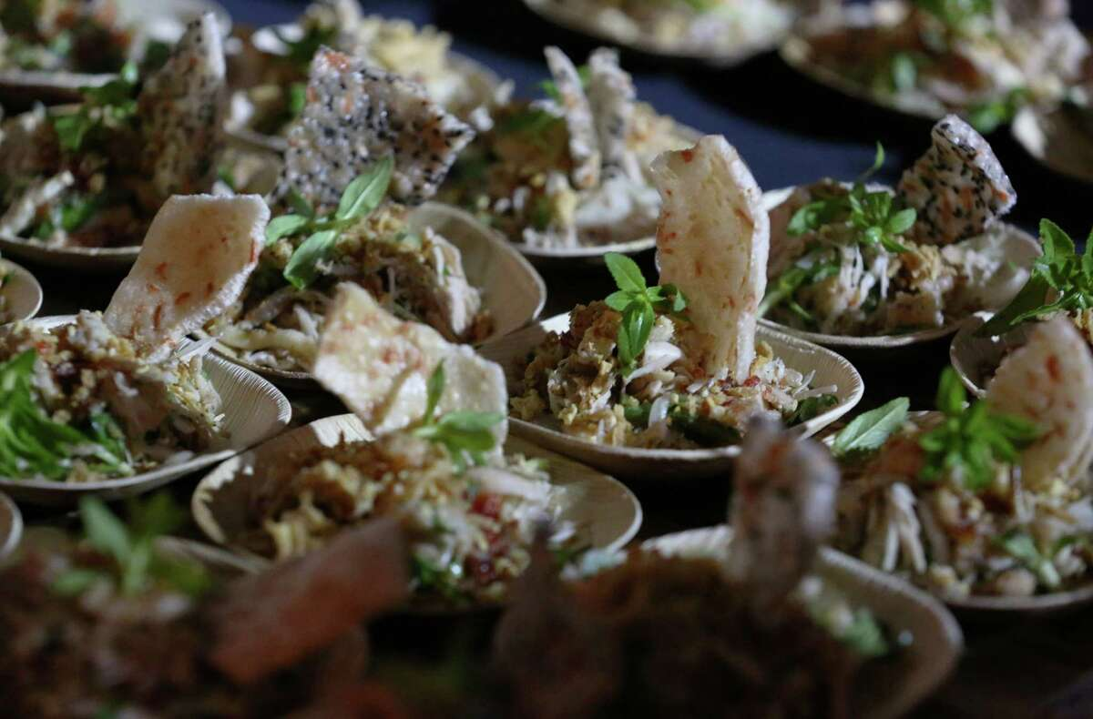 Young jackfruit salad dishes from Les Ba'get at the Luckyrice culinary festival.