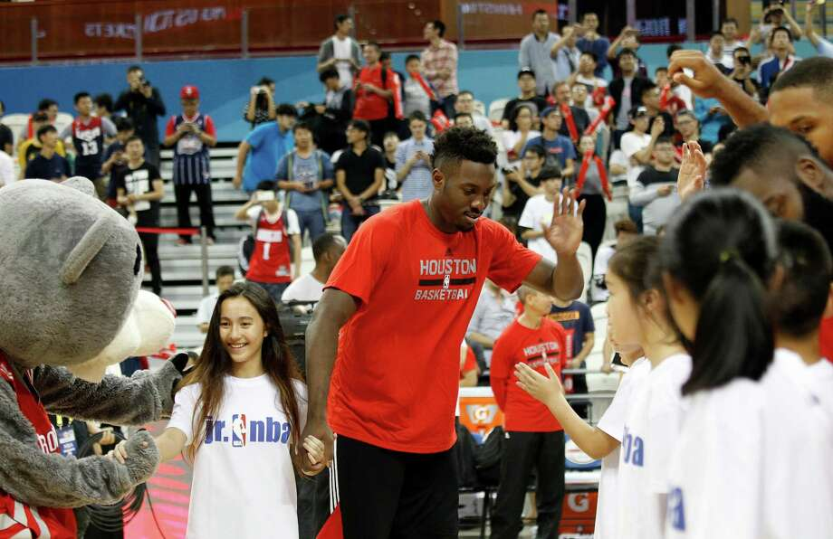 When Rockets rookie Chinanu Onuaku got the word that the Rockets had called him up from the NBA Development League, no one mentioned the schedule ahead. Photo: STR, Associated Press / Copyright 2016 The Associated Press. All rights reserved.