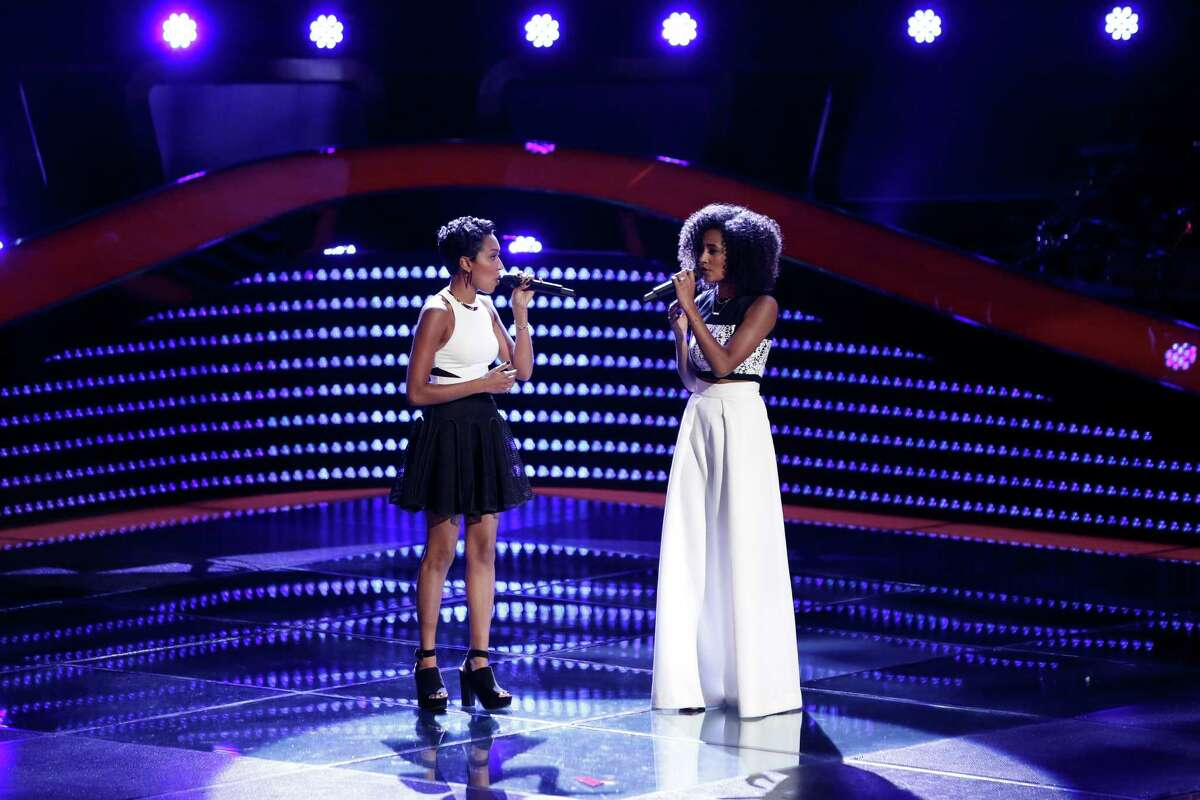 Whitney Sim, left, and Shannon Bates grew up in Houston and are early favorites on 'The Voice.'