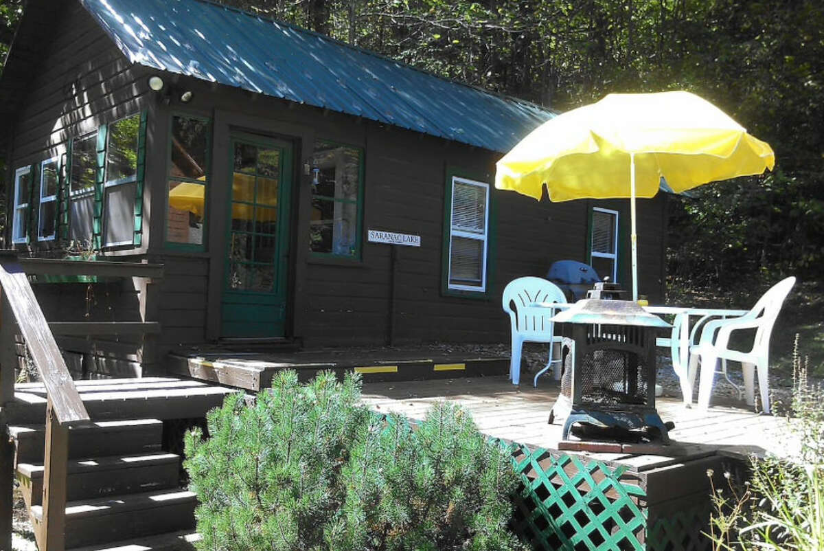 Saranac Lake, NY . Canary Cabin. Price: $125. Quaint, one bedroom cabin with a queen bed, bathroom, living room, kitchenette, and outdoor hot tub. Just a minutes walk to lower Saranac Lake and Dewey Mountain! View full listing on Airbnb.