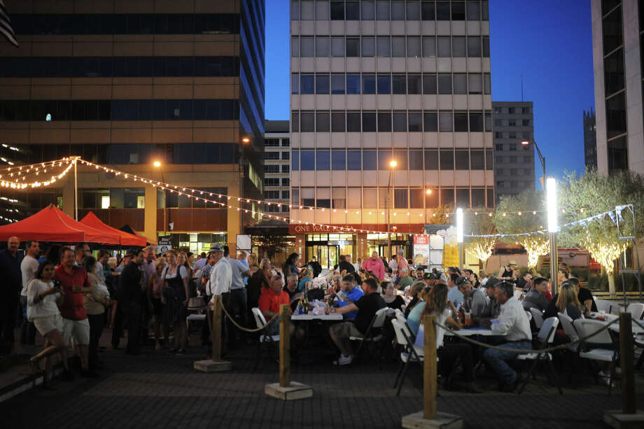 Oktoberfest on Thursday, Oct. 6, 2016, at Bank One Plaza in downtown Midland. James Durbin/Reporter-Telegram Photo: James Durbin