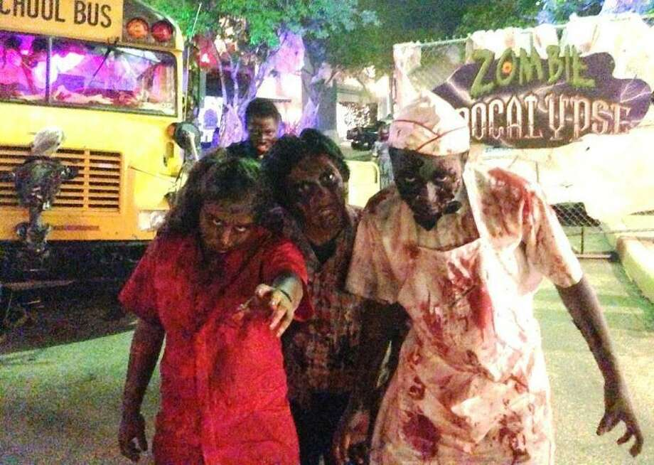 """""""Zombie Apocalypse"""" is one of the attractions at the annual Fright Fest at Six Flags Fiesta Texas. Photo: Courtesy Photo"""