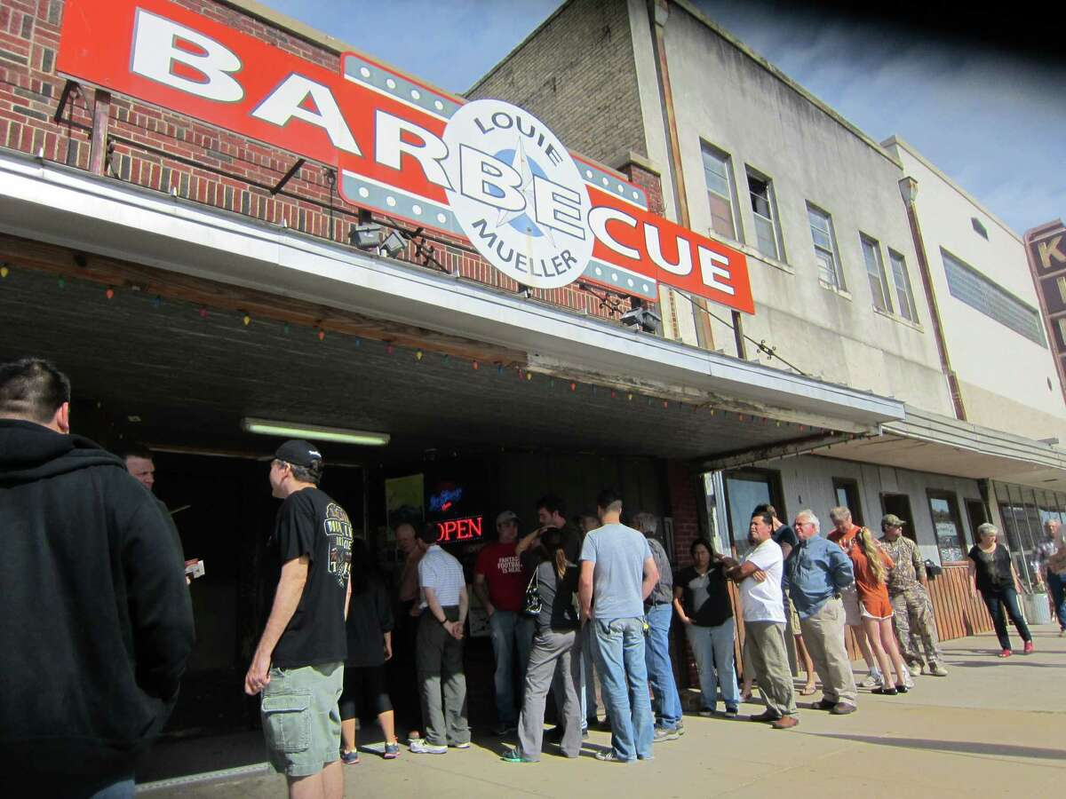 Barbecue lovers line up at Louie Mueller Barbecue in Taylor.