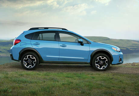 Subaru has standardized on 17-inch alloy wheels for all versions of the Crosstrek. The five-door has a distinctive 8.7 inches of ground clearance, measured at the front crossmember.