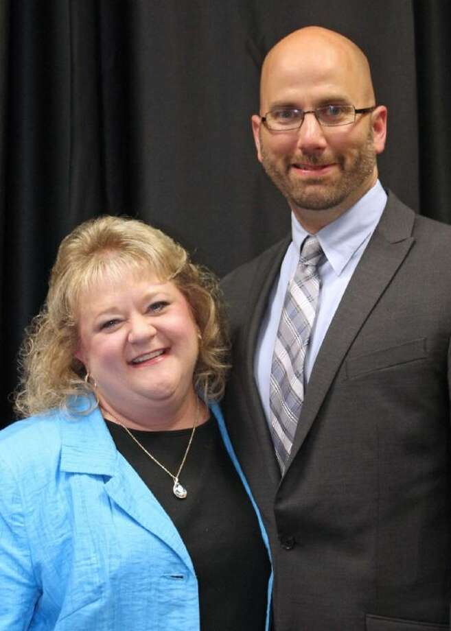Rustic Oak Elementary's Beth West and Pearland High School's Larry Berger are Pearland ISD's Elementary and Secondary Principals of the Year. Photo: Courtesy Pearland ISD