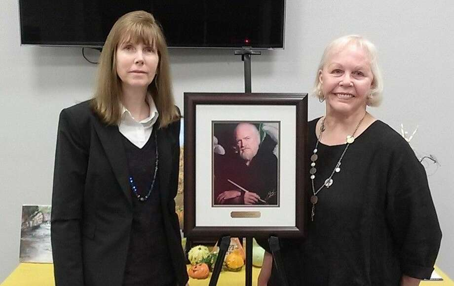 The life and works of the late Jerry Newman, an art professor at Lamar University for 42 years, was the subject of discussion at the Oct. 21 meeting of the Liberty County Art League. Victky MacTaw was the guest speaker. Photo: Submitted