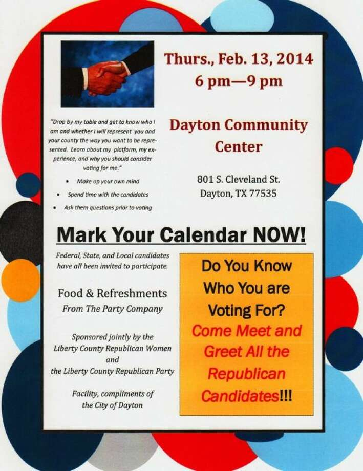 A candidate meet-and-greet is scheduled for the Dayton Community Center on Thursday, Feb. 13, at 6-9 p.m. Photo: Submitted Image