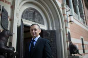 Peter Rodriguez is the new dean at the Jesse H. Jones Graduate School of Business. Rodriguez is also an economist and professor and teaches classes on global macroeconomics and economic growth and development. Tuesday, Oct. 4, 2016, in Houston. ( Marie D. De Jesus / Houston Chronicle )