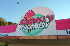 Kimball's Creamery is located in Nederland at the corner of Twin City Highway and Nederland Avenue.