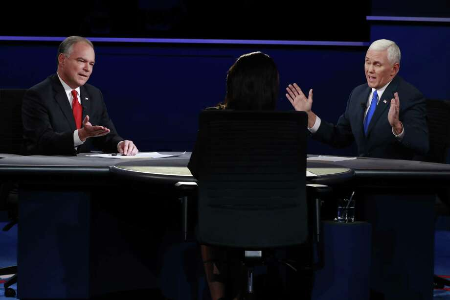 After watching Demcorat Tim Kaine and Republican Mike Pence during the vice presidential debate last week, a reader says he detected something unexpected. Photo: Doug Mills /New York Times / NYTNS