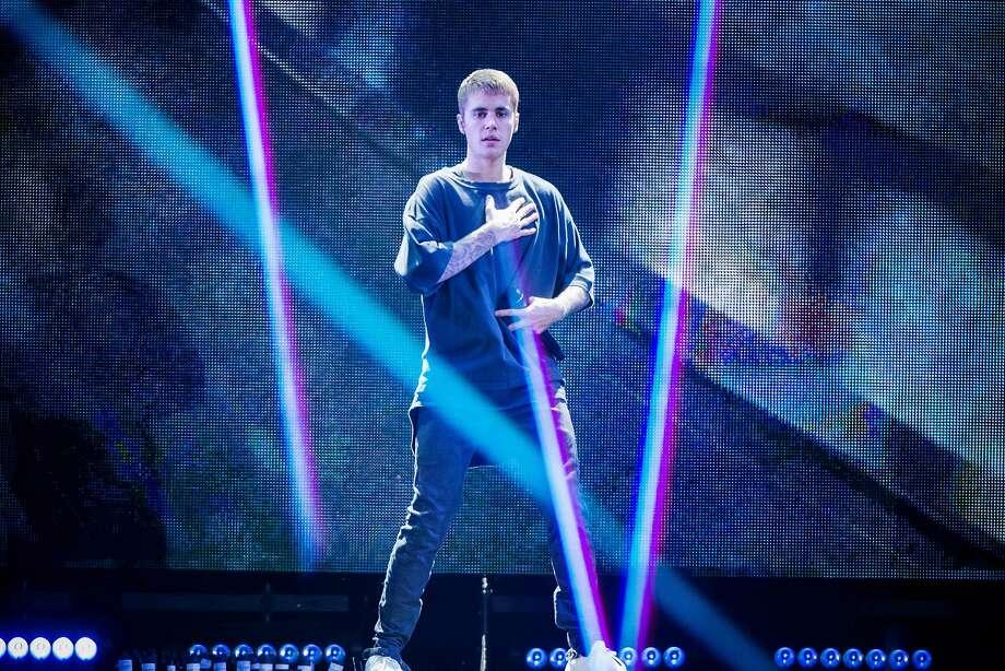 Canadian singer Justin Bieber performs on stage in Telia Parken Stadium in Copenhagen on October 2, 2016  / AFP PHOTO / Scanpix Denmark AND Scanpix / Jens Astrup / Denmark OUTJENS ASTRUP/AFP/Getty Images Photo: JENS ASTRUP, AFP/Getty Images