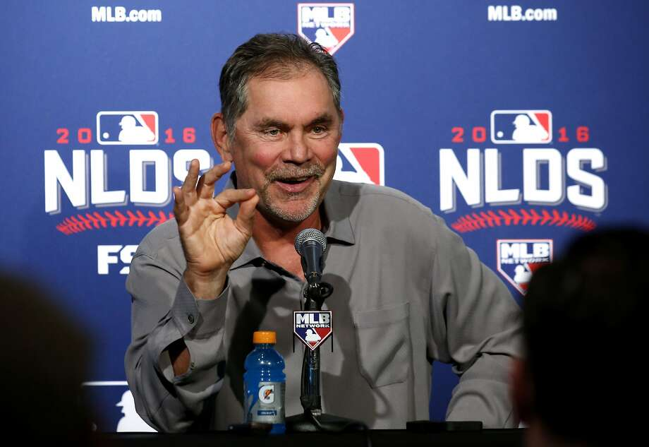 San Francisco Giants manager Bruce Bochy smiles during a news conference Thursday, Oct. 6, 2016, in Chicago. The Giants are scheduled to face the Chicago Cubs in Game 1 of a baseball National League Division Series on Friday. (AP Photo/Nam Y. Huh) Photo: Nam Y. Huh, Associated Press