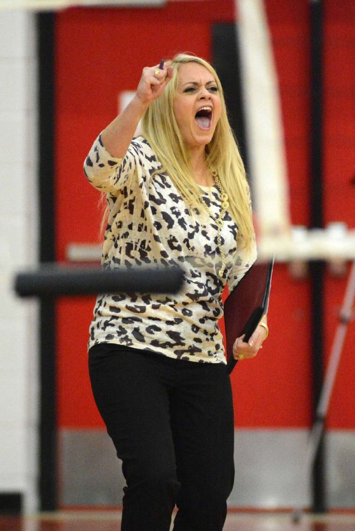 Kingwood Park volleyball coach Kelly Miser has her team rolling through district play so far this season.