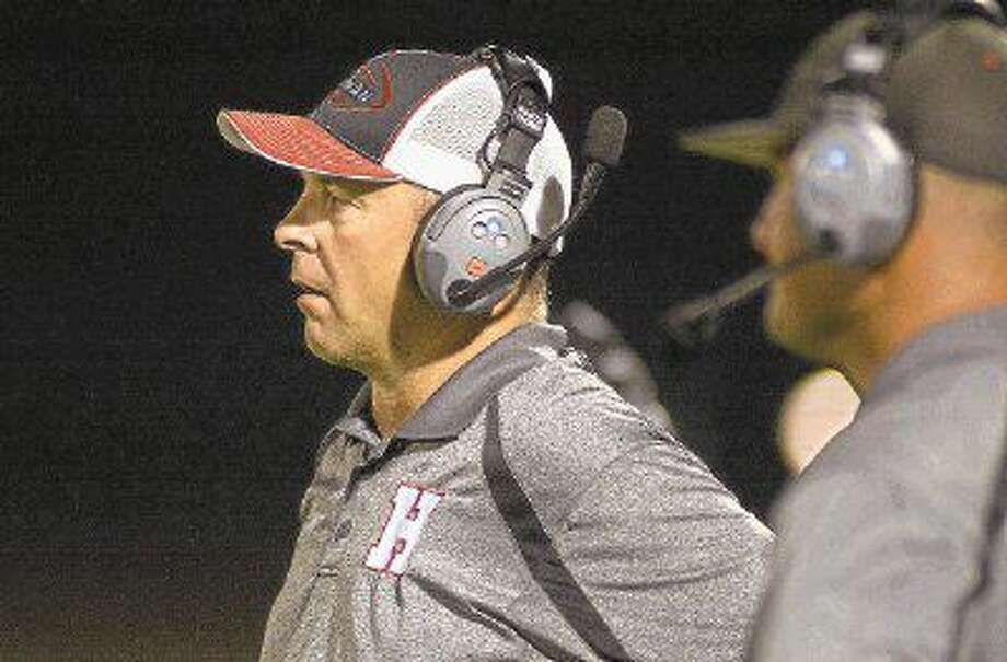 Huffman head coach Mike McEachern has plenty to be excited about as the Falcons enter the bye week with momentum after last week's 42-21 win over Worthing. Photo: Jerry Baker