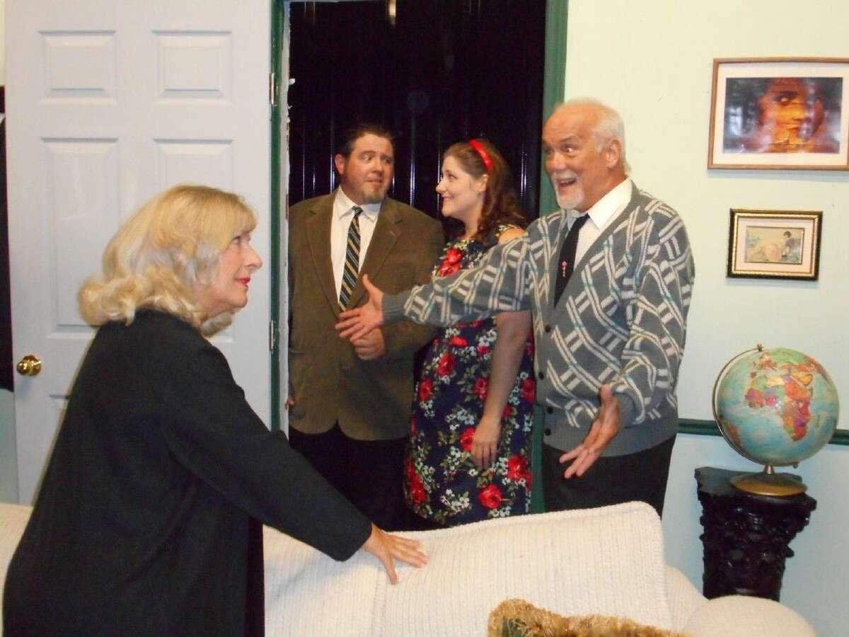 Julie Owen, left, stars with Billy Chmielewski, Kelsie Peltier and Jeff Luchsinger in Edward Albee's