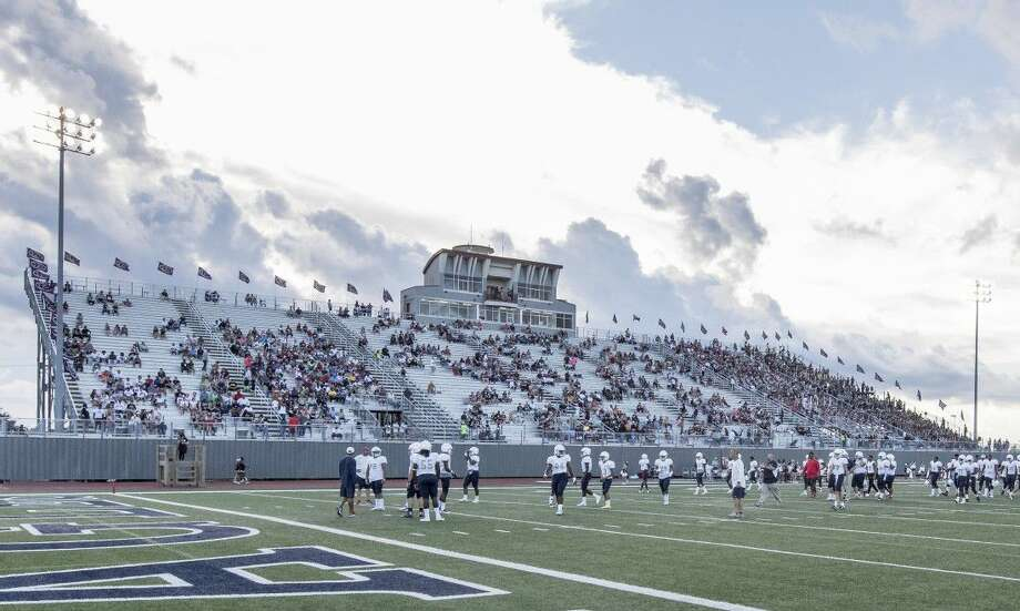 A proposed bond package would renovate and expand the Pearland ISD stadium called The Rig, which is beside Pearland High School. Photo: Tim Warner