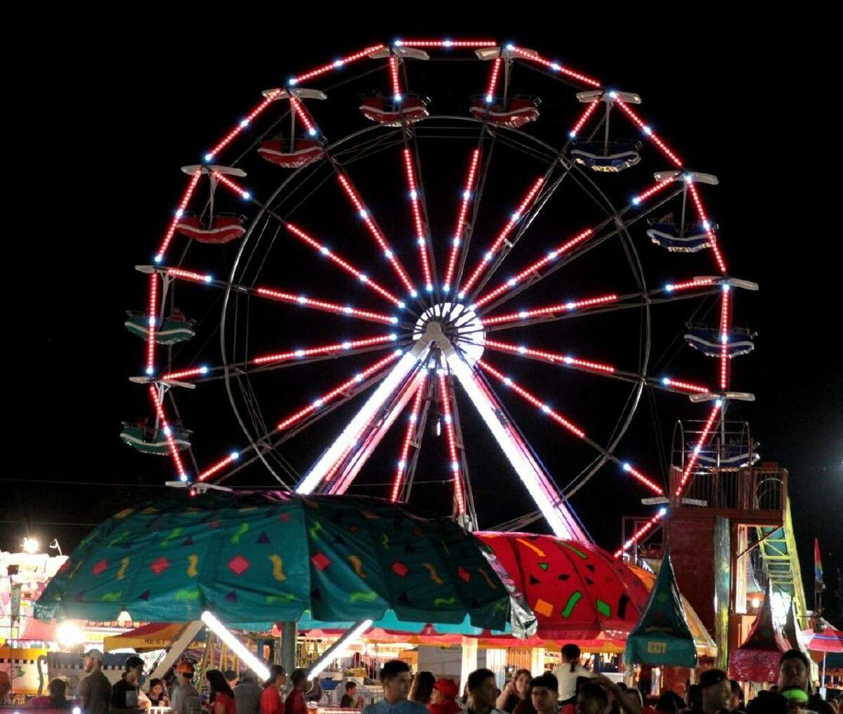 The Fort Bend County Fair offers the Todd Armstrong Shows with carnival rides, games and food. Rides include the Super Shot and Himalaya, along with the Gondola Wheel and Tilt-A-Whirl, plus a kiddy land with the classic carousel and circus train.
