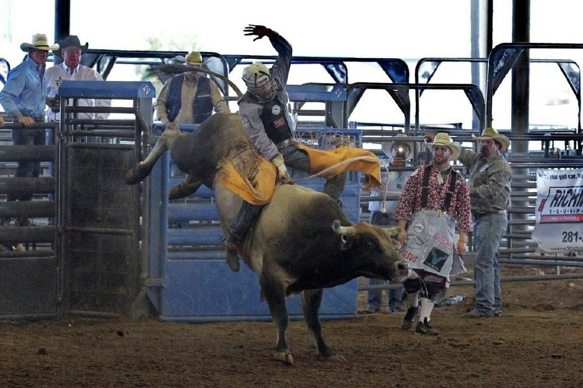 The Fort Bend County Fair will host a PRCA Rodeo Sept. 30-Oct. 2. Cowboys and cowgirls will compete in seven events: Bull riding, bareback riding, saddle bronc riding, steer wrestling, calf roping, team roping and barrel racing.