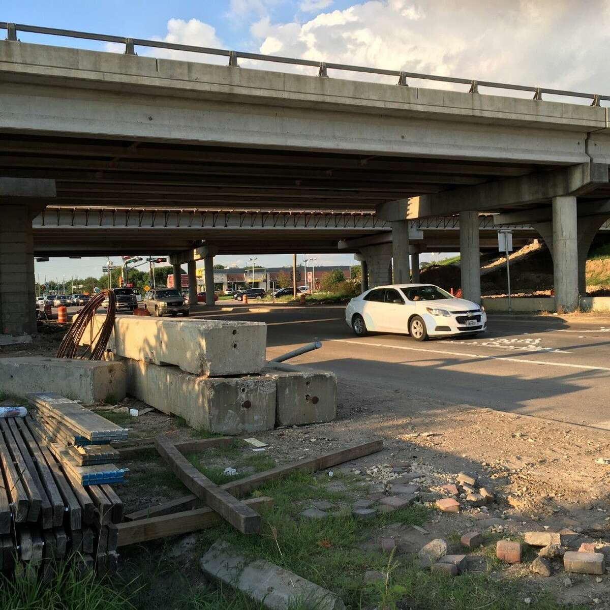 The Texas Department of Transportation recently opened the partial closure at the Texas 36 and U.S. 59 intersection so there are again three lanes open to traffic.