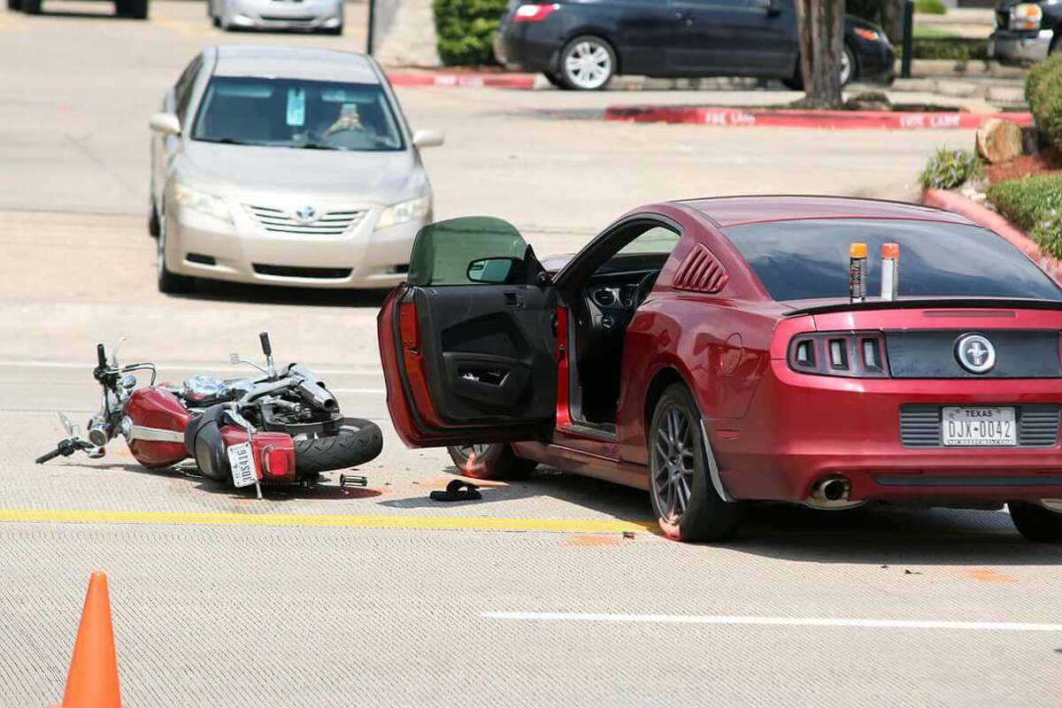 A Friendswood motorcyclist has died from injuries he sustained in a Tuesday afternoon wreck, police said Wednesday.