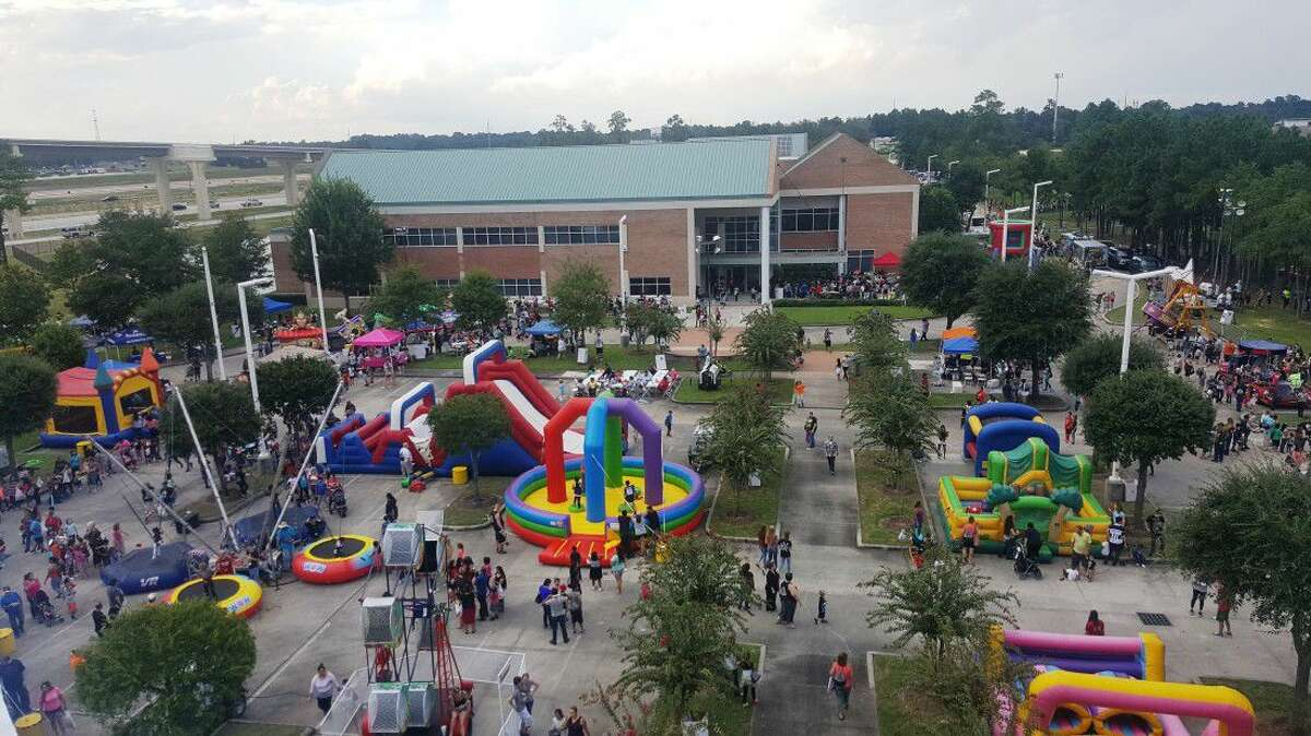 Thousands of people enjoy the festivities at the annual Back to School Bash hosted by EMCID at the EMCID Complex Tuesday, Sept. 13.