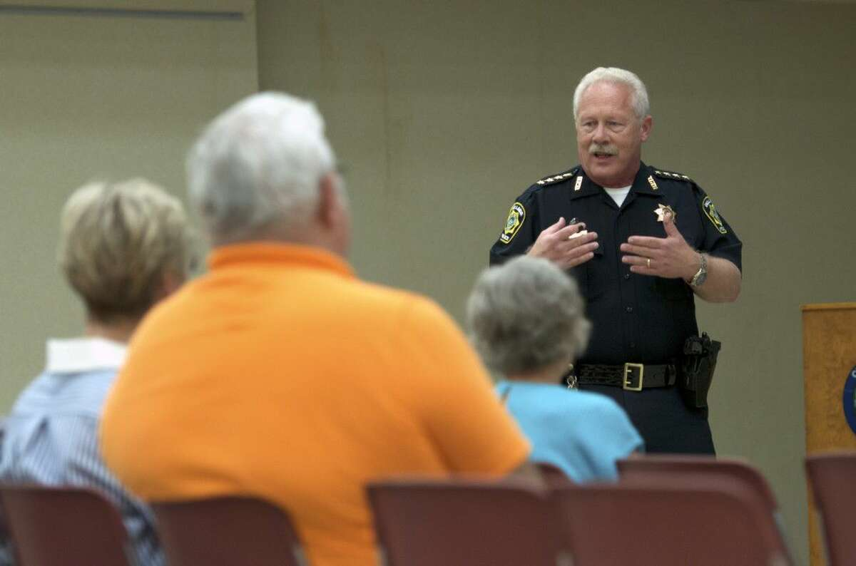 Bellaire Police Chief Byron Holloway outlines the plan to implement more than two dozen more body-wearable cameras for each patrol officer by the end of the year.