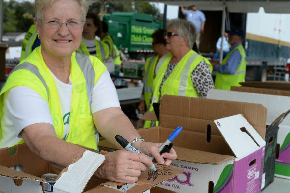 Volunteers began collecting canned goods at 6 a.m. Thursday morning.