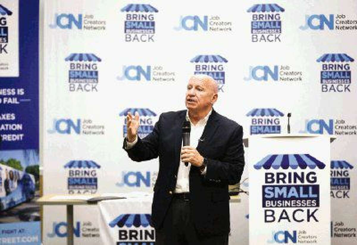 U.S. Rep. Kevin Brady, R-The Woodlands, speaks during the Job Creators Network Event on Monday at Sam Houston State University's The Woodlands Center.