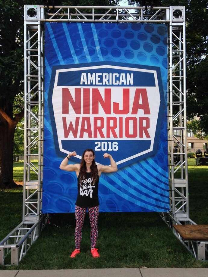 "Atascocita gymnastics coach and Dayton resident Barclay Stockett competed during the Oklahoma City qualifiers for the television show, ""American Ninja Warrior."""