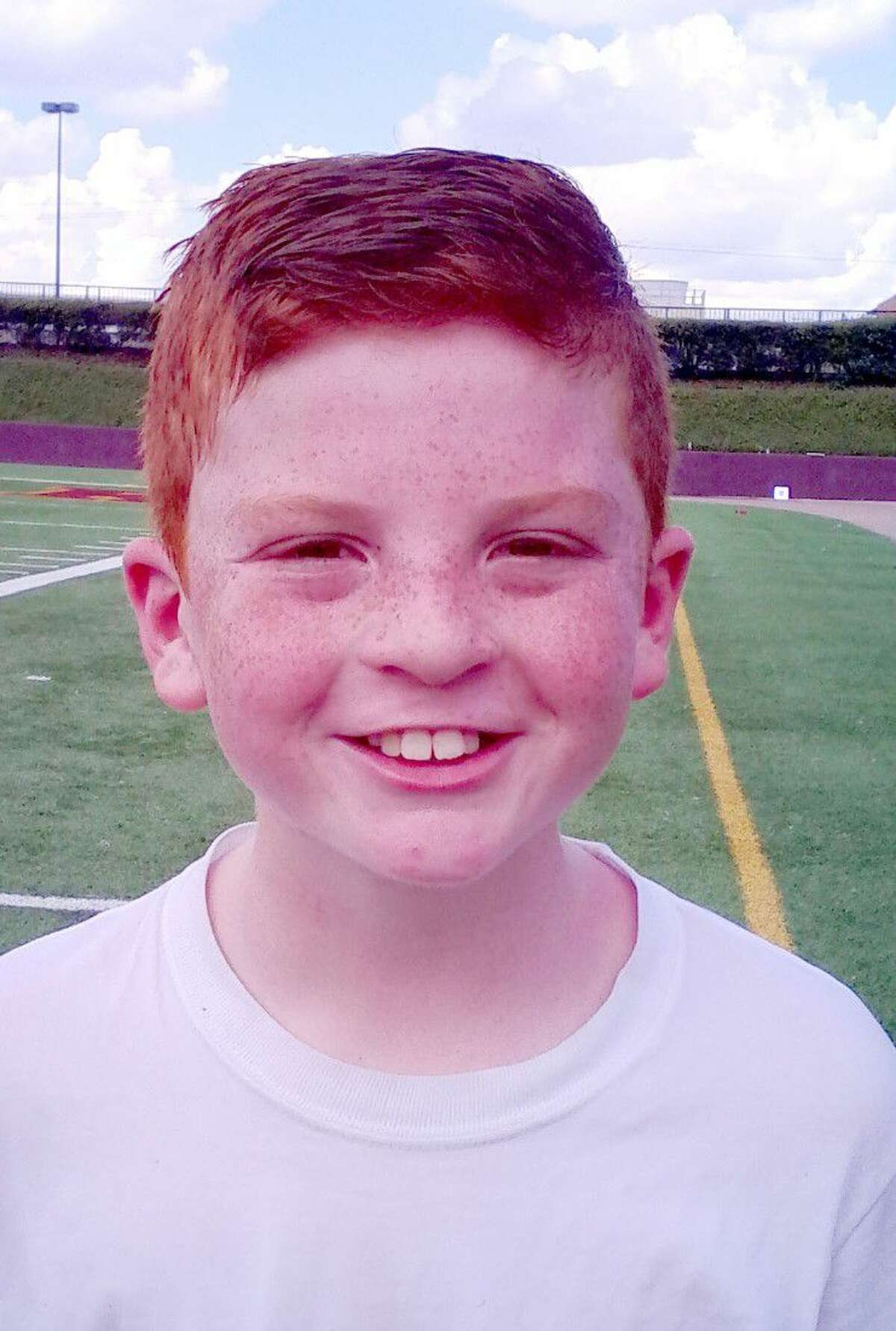Jax Venetoulias may have become the first TIFI football player ever to attempt a field goal. The 10-year-old put plenty of height and distance on the kick but kicking from the left hash mark, he watched the attempt sail just past the left upright.