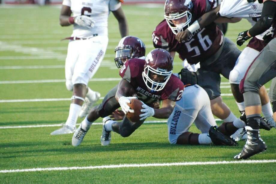 Jaiden Woodson (20) and his Clear Creek teammates take on Clear Springs at 7 p.m., Friday at Challenger Columbia Stadium. Photo: Kirk Sides