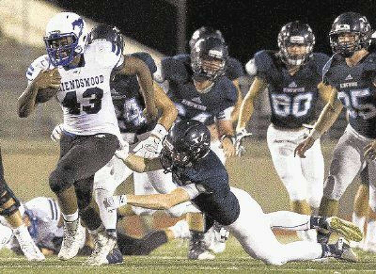 Friendswood running back Elijah Blackburn (43) will be counted on to bolster the Mustang offense the remainder of the year.