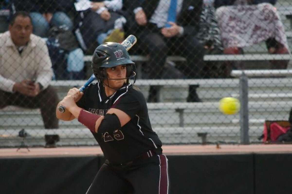 Pearland's Rylie Spell (25) went 7-for-8 in the two-game series with Sugar Land Clements and hit a three-run home run on Friday.