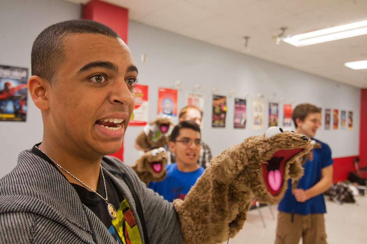 Dante Rossi works at Avenue Q Puppet Camp at HSPVA. Photo By R. Clayton McKee
