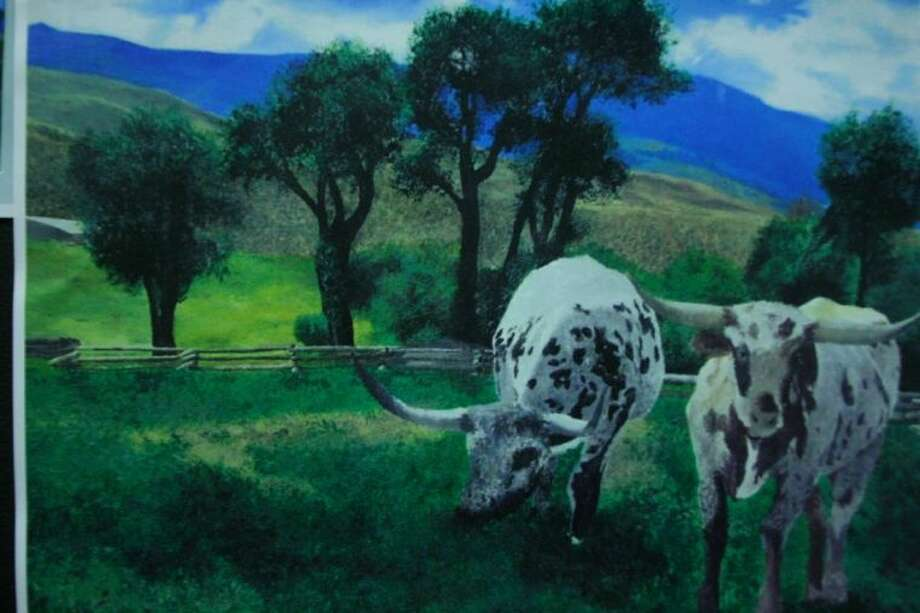 """""""Life on the Ranch"""" by a Huffman 12th grader. Photo: Nate Brown"""
