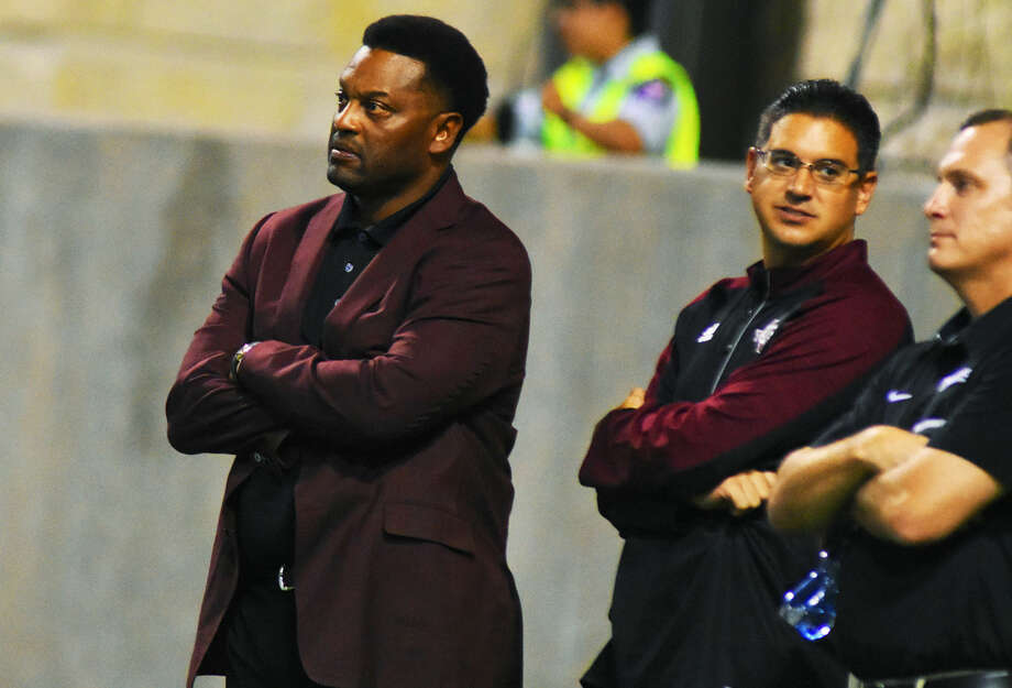 Texas A&M Football head coach Kevin Sumlin watches the latter half of the Cy-Fair versus Cypress Ranch contest Thursday, Sept. 22, 2016 at Cy-Fair FCU Stadium. In his first visit to the stadium in the last few years, Sumlin was treated to a terrific contest between two strong teams. Photo: Tony Gaines