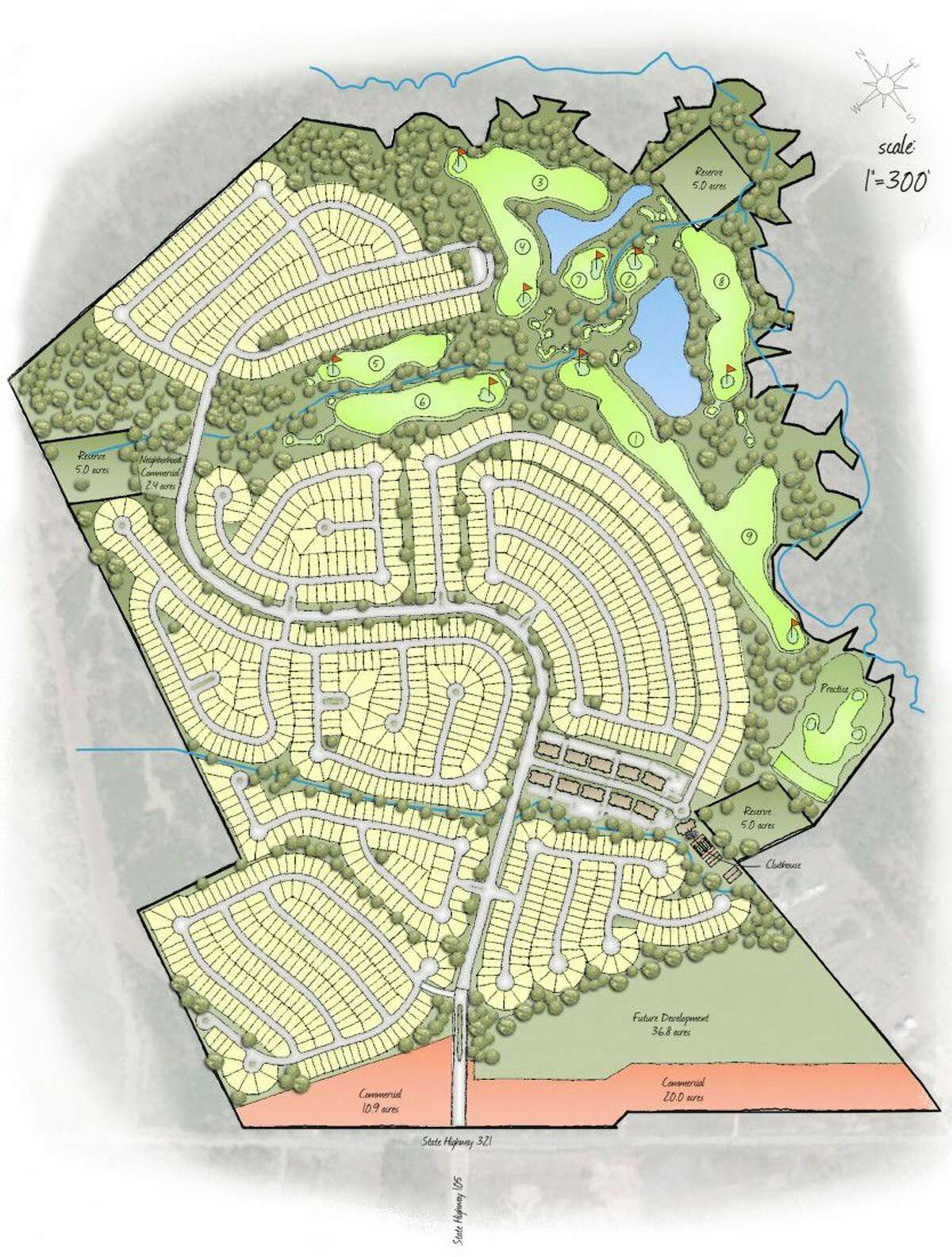 A new 615-acre subdivision featuring 1,400 home sites and 240 condominiums is being planned for Cleveland by McKinley Development Company of Willis.