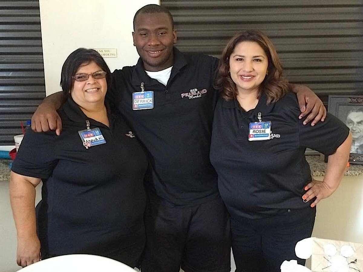 (L-R) H-E-B volunteers Anna Bryant, Derrick Leaks and Rosie Garcia (photo courtesy of Anna Bryant).