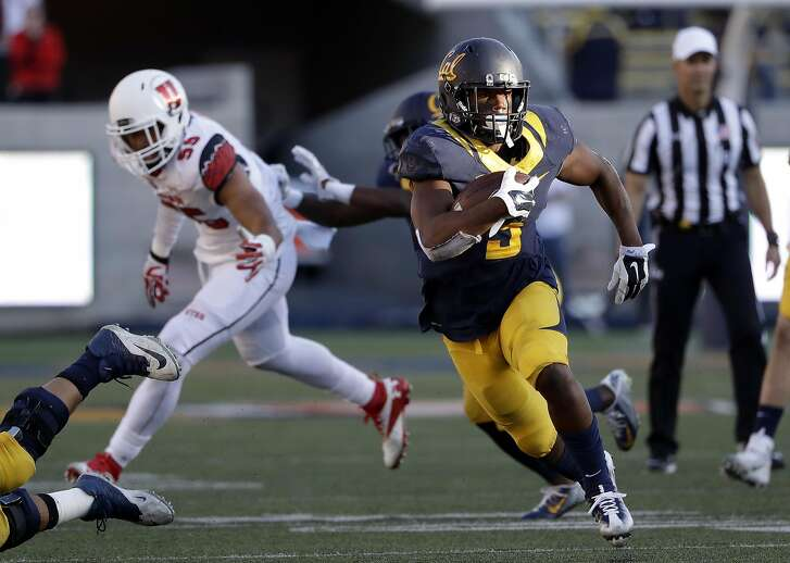 California running back Tre Watson (5) during the second half of an NCAA college football game against Utah Saturday, Oct. 1, 2016, in Berkeley, Calif. (AP Photo/Marcio Jose Sanchez)