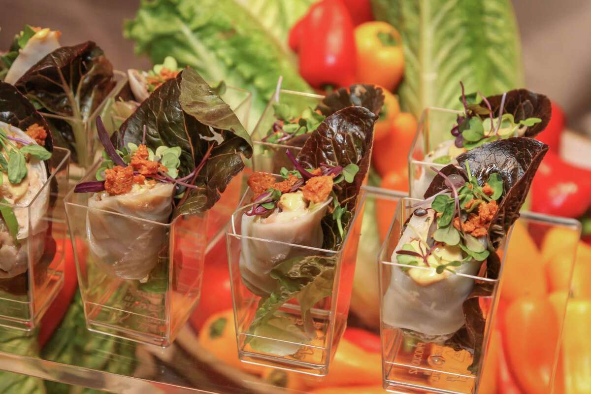 Scenes from the 32nd annual Caesar Salad Competition held Oct. 6 at the University of Houston Hilton Hotel Ballroom. Classic and creative Caesar salads were judged.