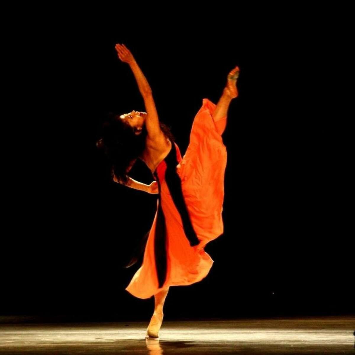 Shizu Yasuda performs a dance choreographed by Randall Flinn as part of Houston Choreographers X6 at the ERJCC January 25-26.