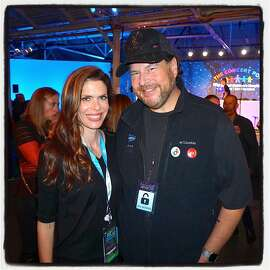Philanthropist Lynne Benioff and her husband, Salesforce founder-CEO Marc Benioff at their Concert for the Kids at the Cow Palace. Oct. 2016.