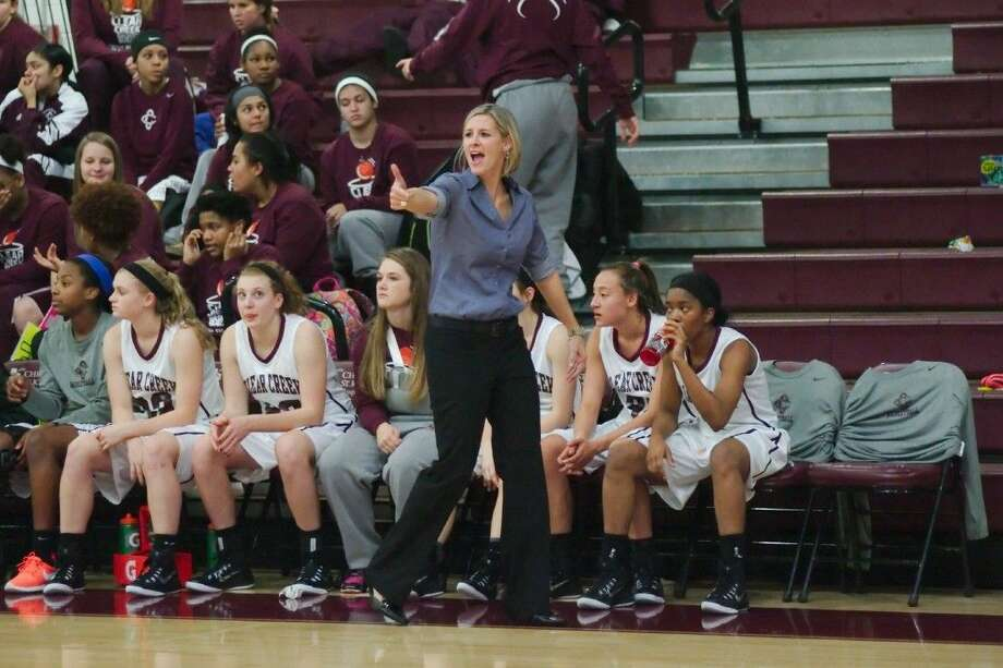 Clear Creek head coach Kristi Odom, a former player at the school, picked up her first victory as head coach of the Lady Wildcats Tuesday night in a 57-44 victory over Summer Creek. Photo: KIRK SIDES