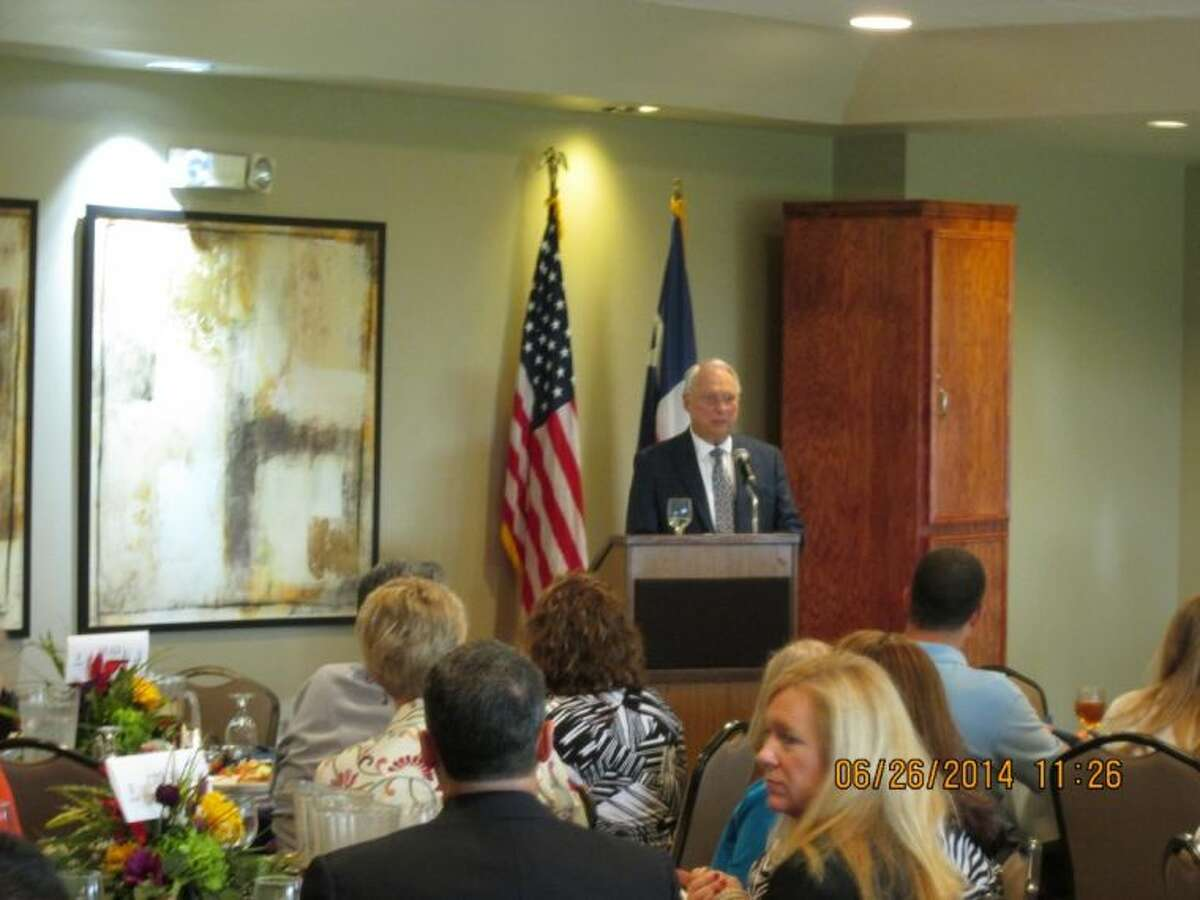 Ray Landers receives recognition for Business of the Year at the Deer Park Chamber of Commerce, Business of the Year Luncheon on June 26.