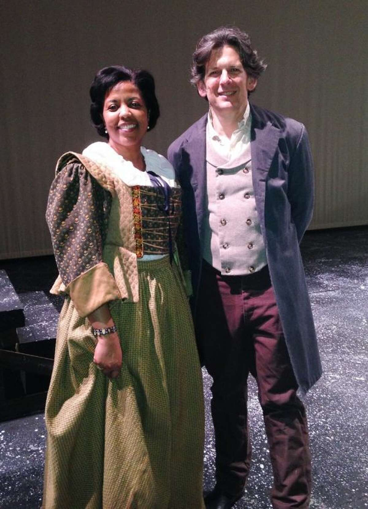 Labay Middle School employee Sue Eslami (chorus) and private voice instructor Drew Slatton (Jean Valjean) will have roles in the upcoming production of Les Misérables at Lone Star College-CyFair.