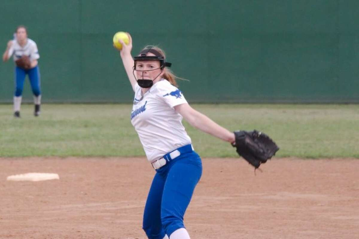 Friendswood pitcher Courtney Weber (shown here) joined senior infielder Brittany Woods and senior outfielder Kaylee Barnes as first-team all-district 24-4A softball selections.