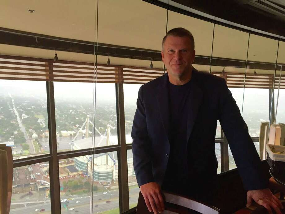 "Texas billionaire Tilman Fertitta chose the Tower of the Americas as the setting for an episode about a San Antonio glass company that will air on the second season of ""Billion Dollar Buyer"" on CNBC. Photo: Jeanne Jakle /Express-News Staff"