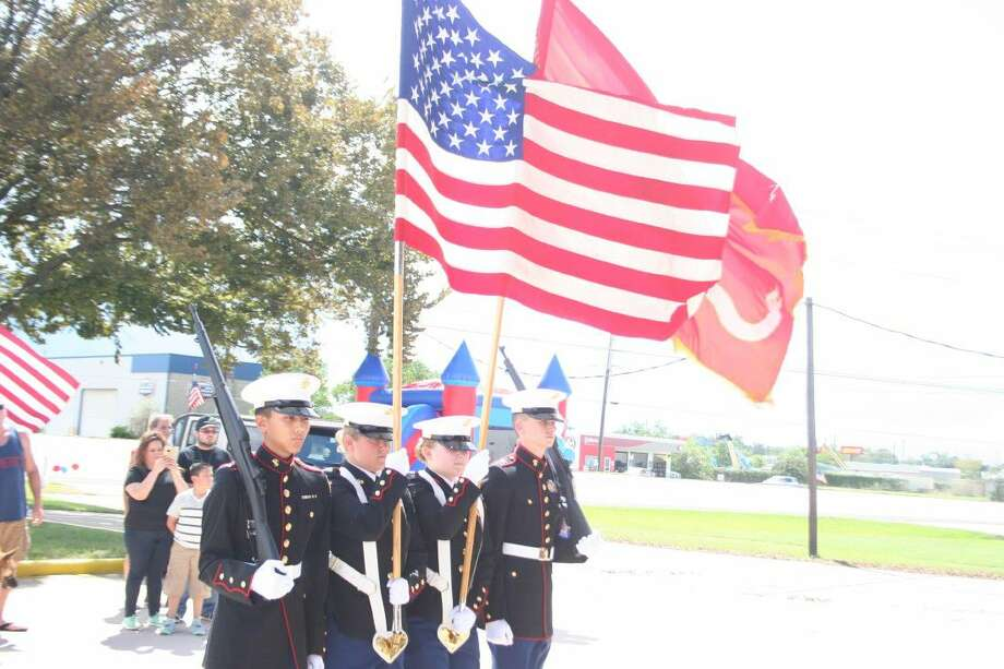 The Atascocita High School Marine Corps JROTC was on hand to present the colors for the event. Deondra Selph sang the Star Spangled Banner guest joined in on the Pledge of Allegiance.