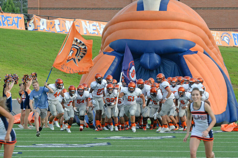Seven Lakes defeated Tompkins 24-16 in the District 19-6A opener for both teams. The Spartans improved to 2-2 overall, evening a 2015 loss to the Falcons. Photo: Craig Moseley